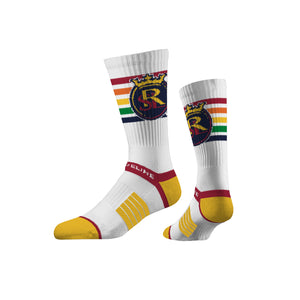 RSL Strideline Rainbow Premium Knit Crew Socks
