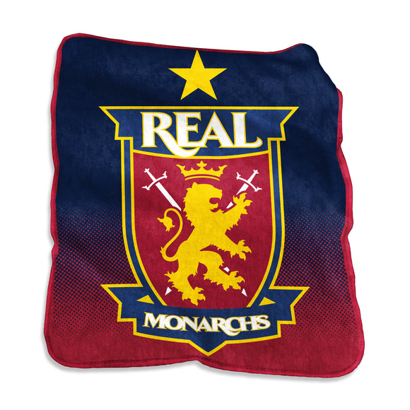 Real Monarchs Raschel Throw
