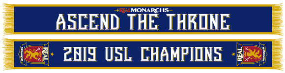 Real Monarchs 2019 USL Champions Knit Scarf
