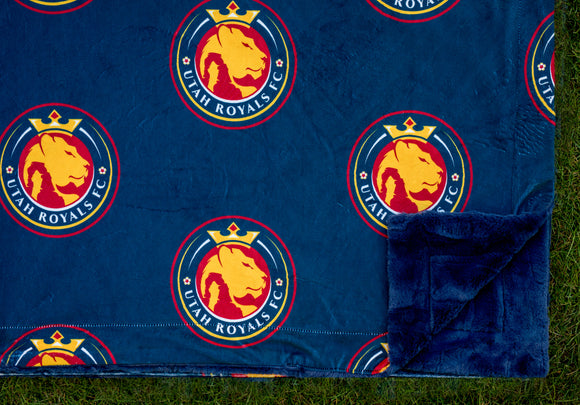 Utah Royals FC x Minky Couture Solid Blanket