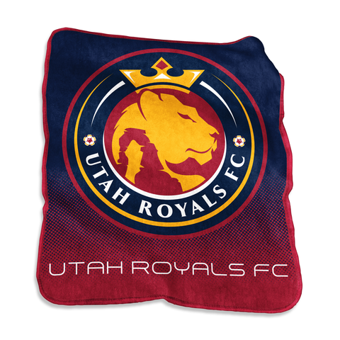 Utah Royals FC Raschel Throw Fleece Blanket