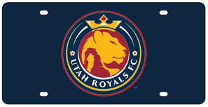 Utah Royals FC Navy Acrylic Inlaid License Plate