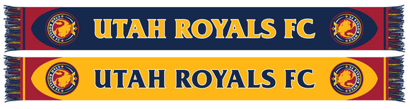 Utah Royals FC Navy & Yellow HD Knit Scarf