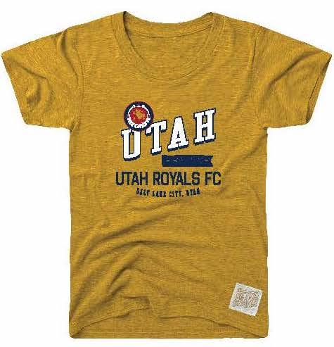 Utah Royals FC Kids (4-7) Vintage Heather Gold Tee