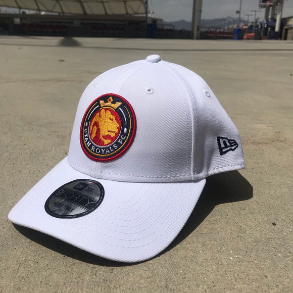 Utah Royals FC New Era 9FORTY White Adjustable Hat