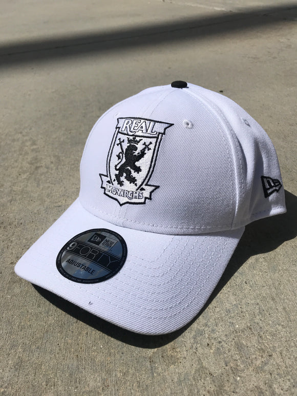 Real Monarchs New Era White 940 Adjustable Hat