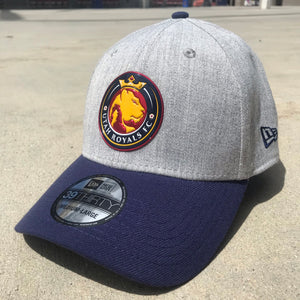 Utah Royals FC New Era 39THRITY Heather Grey & Navy Stretch Fit Hat