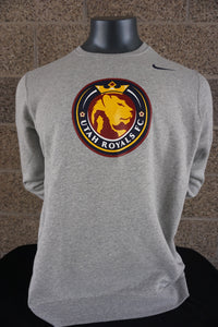 Utah Royals FC Nike Mens Heather Grey Crewneck Sweatshirt