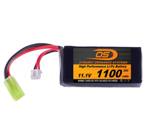 11.1V 1100mA PEQ-15 LiPO Battery (Honey Badger)