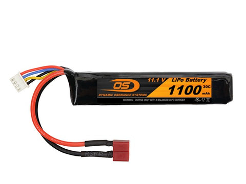 11.1V 1100mA LiPO Short Stick Battery WITH DEANS PLUG