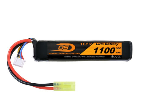 11.1V 1100mA LiPO Short Stick Battery