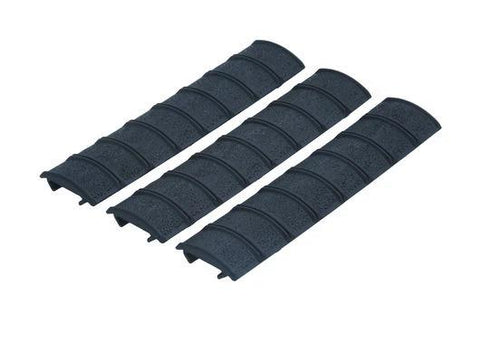 Bamboo Style Clip On Rail Covers (Black)