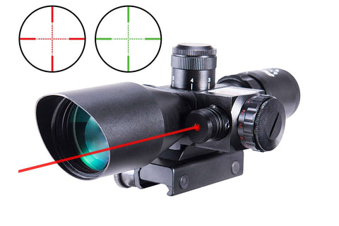 2.5-10x40mm Illuminated Scope with Laser