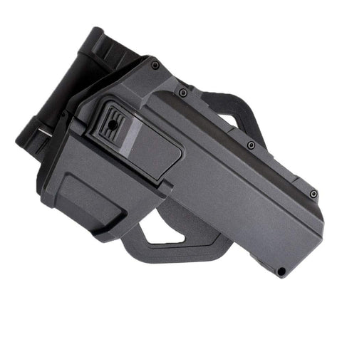 Movable Holster for Glock pistols with attachments