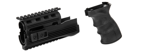 AK Railed Handguards and Tactical Grip