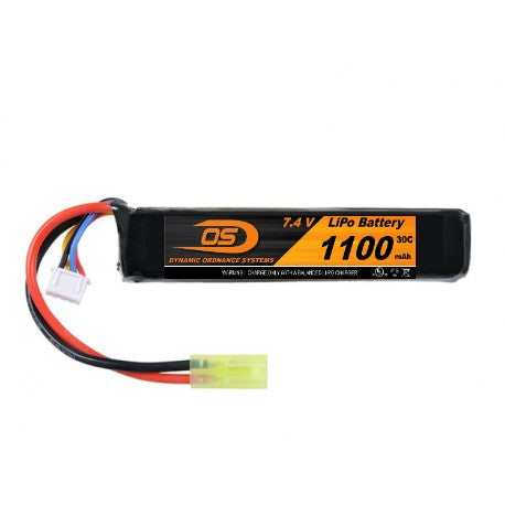 7.4V 1100mA LiPO Short Stick Battery