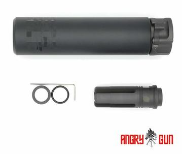 Angry Gun SOCOM 556 Suppressor with QD Flash Hider (Full Marking) Black