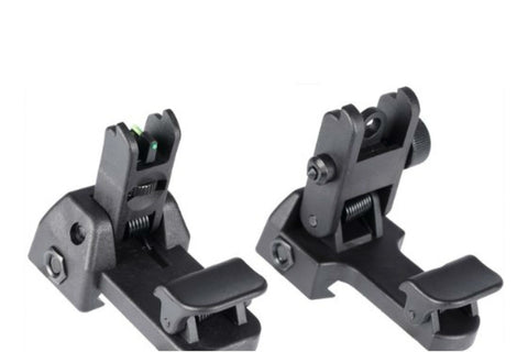 Nylon Flip Up Front and Rear Sights for RIS