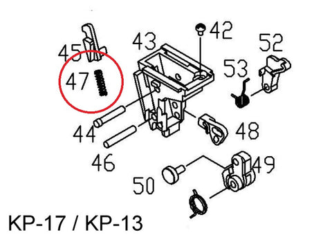 KJ KP-17 (G17) Knocker Lock Spring