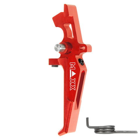 MAXX CNC Aluminum Advanced Speed Trigger (Style E) Red