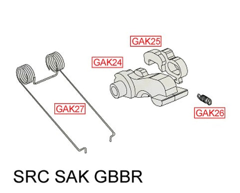 SRC GAK GBBR Hammer and Knocker Assembly