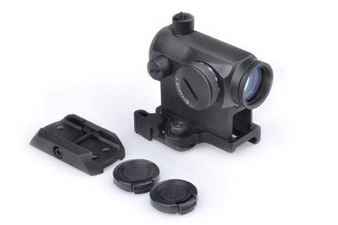 T1 Micro Reflex Red / Green Dot Sight with 2 mounts BK