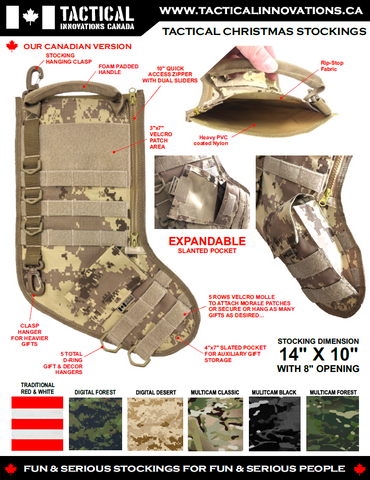 Tactical Christmas Stocking - Digtal Multi Terrain