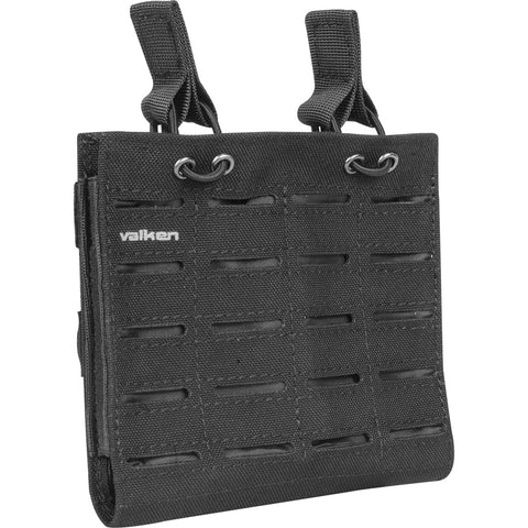 M4 Double Mag Pouch Laser Cut Black