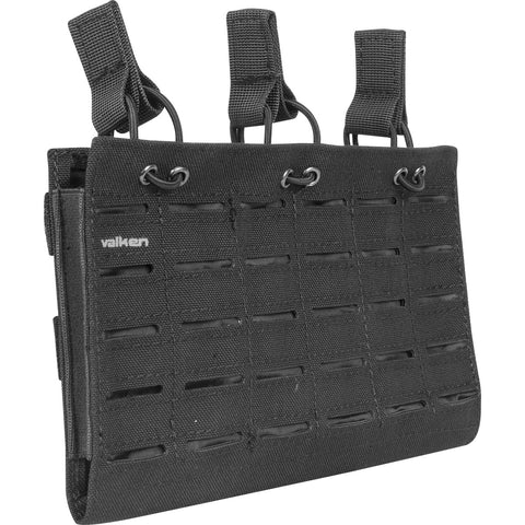 M4 Triple Mag Pouch Laser Cut Black