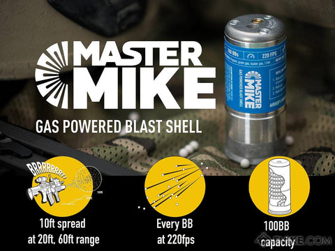Airsoft Innovations Master Mike Gas Powered Blast Shell