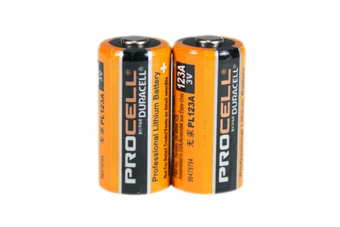 Duracel Pro CR123A 3V Lithium Batteries (PAIR)