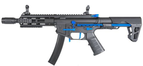 King Arms PDW 9mm SBR M-Lok Black Blue Limited Edition