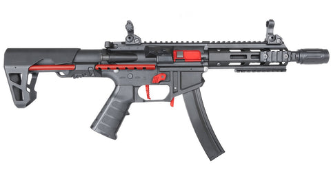 King Arms PDW 9mm SBR M-Lok Black Red Limited Edition