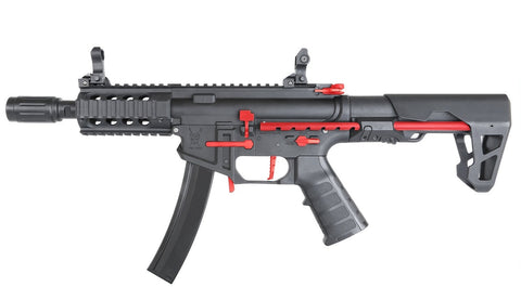 King Arms PDW 9mm SBR Shorty Black Red Limited Edition