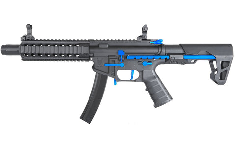 King Arms PDW 9mm SBR Long Black Blue Limited Edition