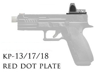 Red Dot Plate for KJ G series pistols (KP-13 / KP-17 / KP-18)