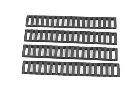 Ladder Style Strechable Clip On Rail Covers (Black)