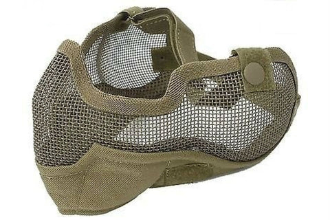 Mesh Mask with Ear Covers Tan