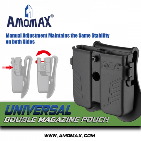 AMOMAX Universal Double Pistol Mag Holster DE
