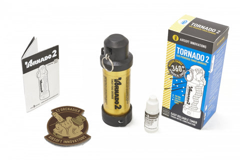 Airsoft Innovations Tornado 2 Timer Frag Grenade GOLD