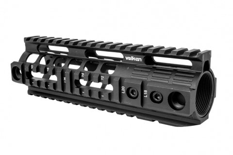 Valken 7 inch quad-rail hand guard for M4s
