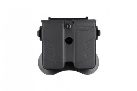 AMOMAX Universal Double Pistol Mag Holster Black
