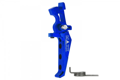 MAXX CNC Aluminum Advanced Speed Trigger (Style E) Blue