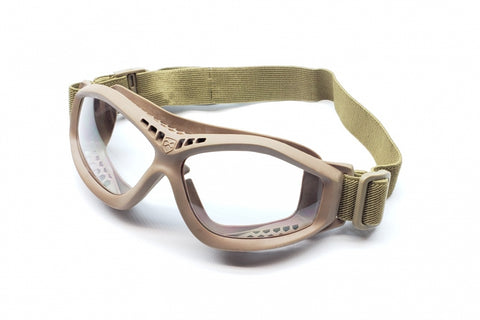 Polycarbonate Goggles (Tan Frame)