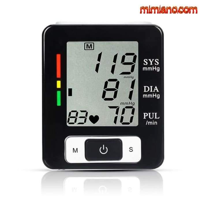 Automatic Digital Blood Pressure Monitor Lcd Display Heat Beat Tonometer Pulse Rate Heart