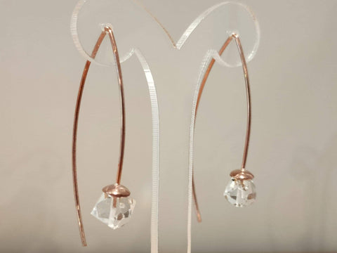 Boucles d'Oreilles Diamants de Herkimer