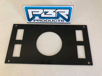 "PBR Products Honda Pioneer 1000 Aluminum Dash Panel 3"" radio w /4 switches for Rockford Fosgate PMX-2"
