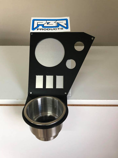 "Honda Pioneer 1000 LIMITED stainless Cup holder dash panel 3 5/8"" radio hole and switch panels"