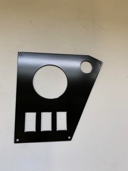 "Honda Pioneer 1000 LIMITED dash panel switch plate with 3"" Radio - 1 outlet"