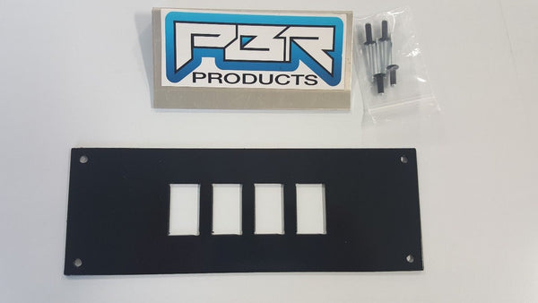 yamaha wolverine r spec 4 switch plate black powder coat aluminum